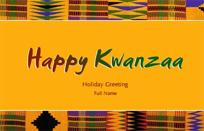 Kwanzaa1 Greeting Card (55x85)